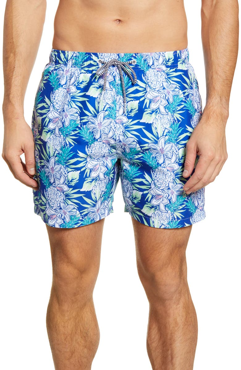 BOARDIES Aloha Navy Swim Trunks, Main, color, NAVY