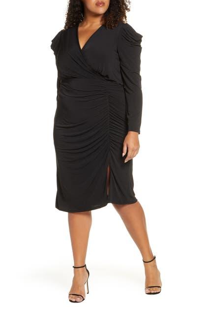 Julia Jordan Dresses LONG SLEEVE RUCHED DRESS