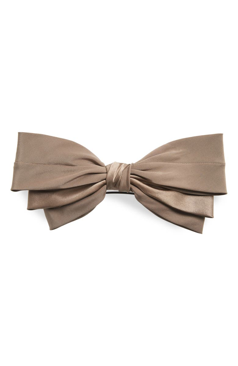 SOPHIE BUHAI Classic Silk Bow Barrette, Main, color, TAUPE
