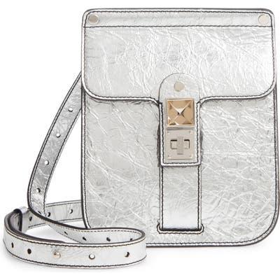 Proenza Schouler Ps11 Box Metallic Leather Crossbody Bag - Metallic