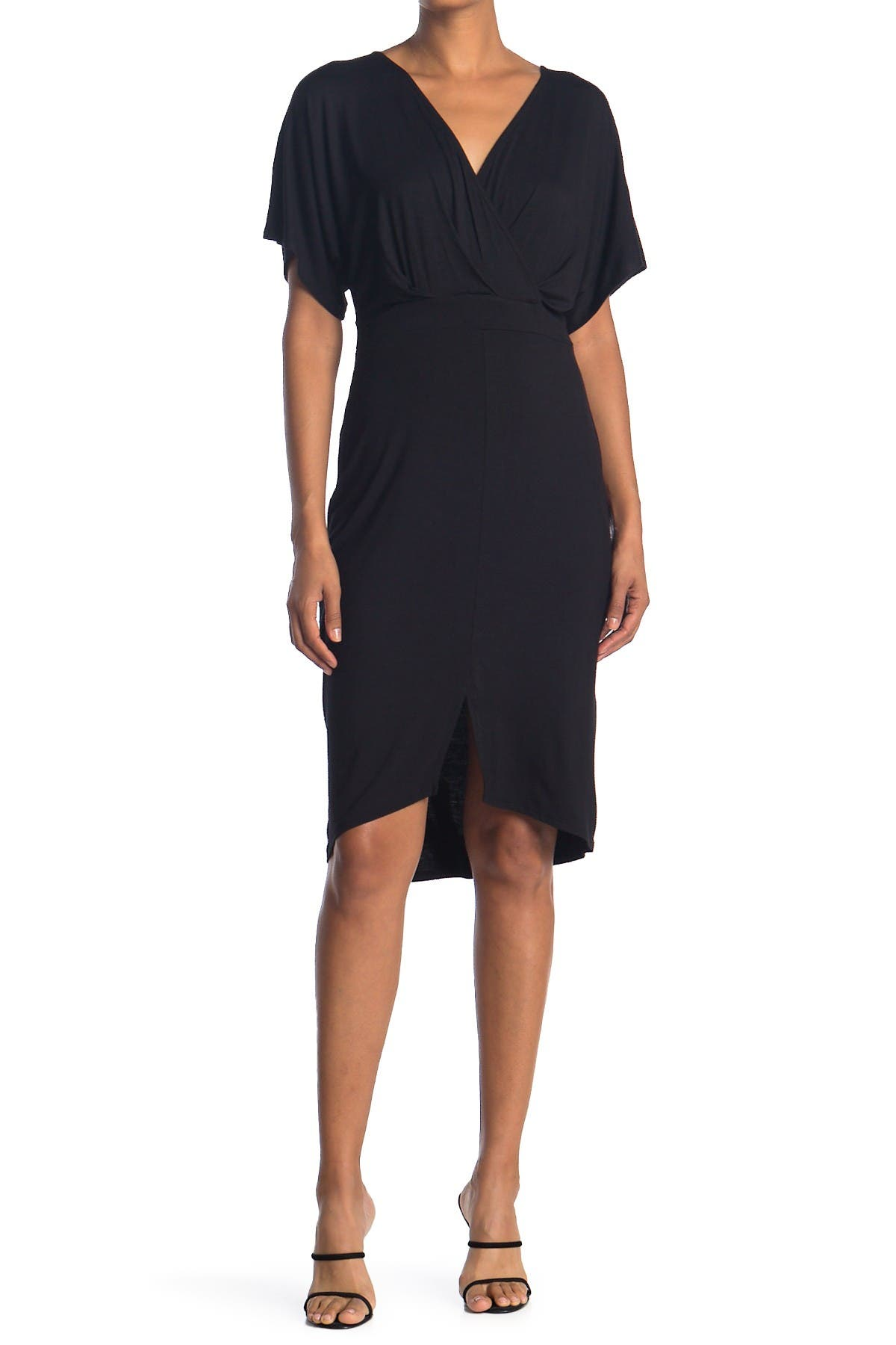 Image of WEST KEI Surplice Short Sleeve Jersey Sheath Dress