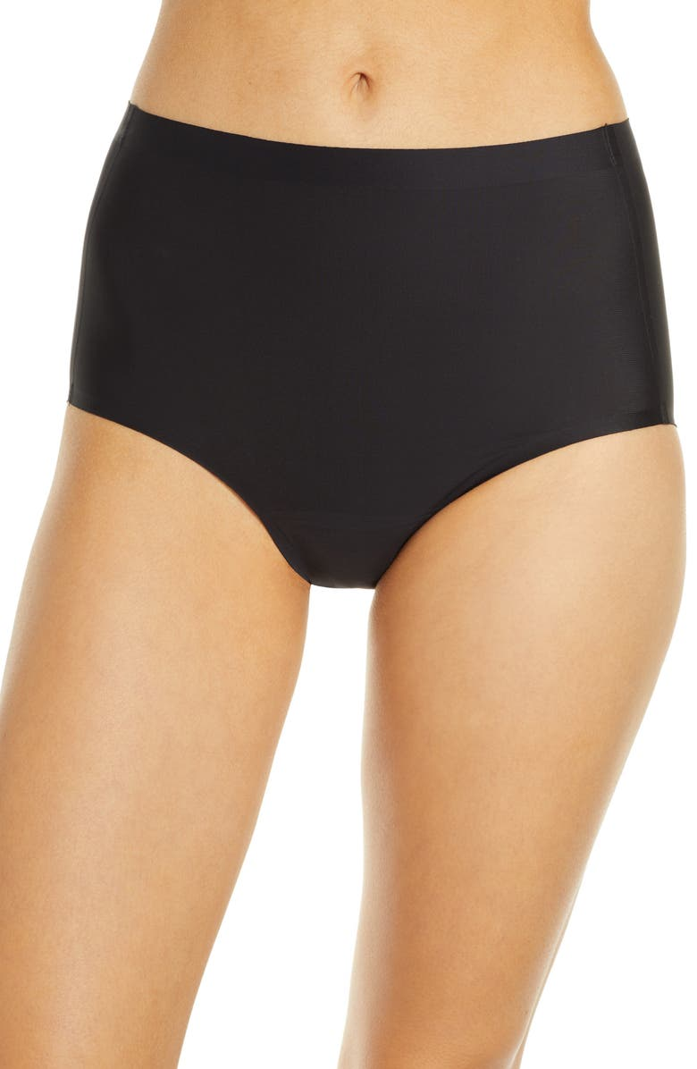 KNIX Leakproof High Waist Panties, Main, color, BLACK