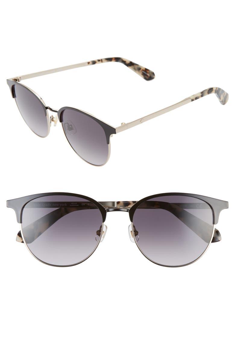 KATE SPADE NEW YORK joelynn 52mm sunglasses, Main, color, BLACK/ GOLD