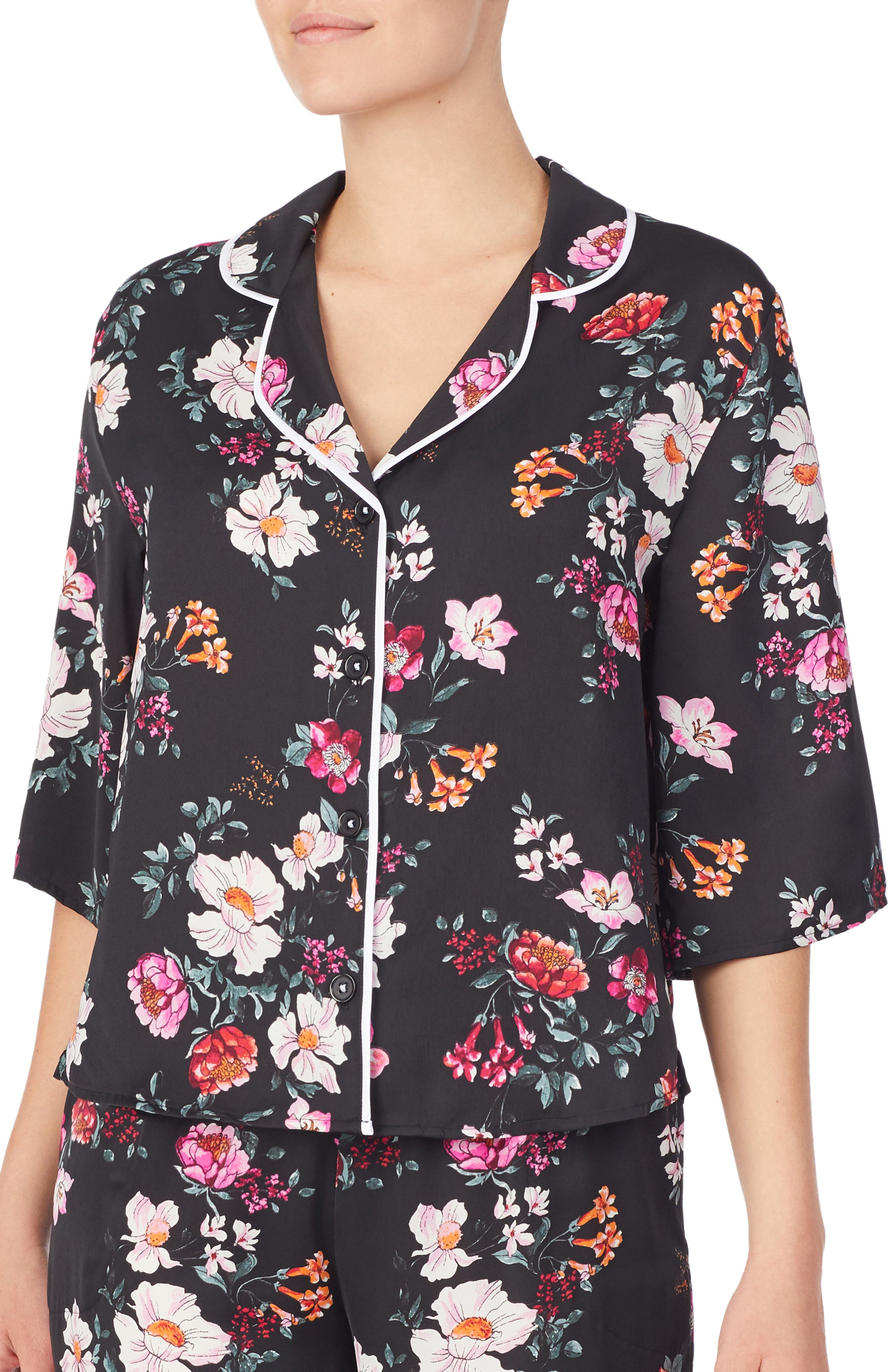 Room Service Pajama Top, Black (Nordstrom Exclusive)