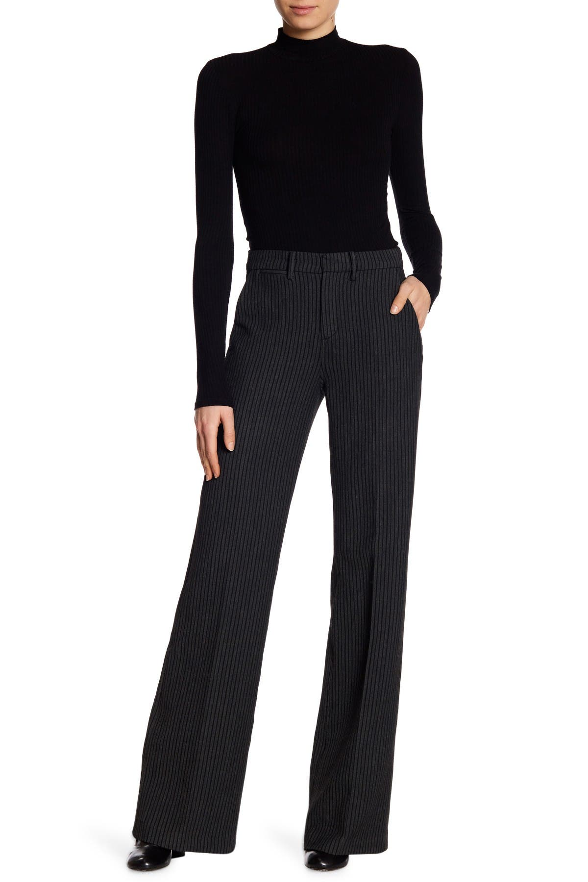 Image of AG Skylar High Rise Wide Trousers