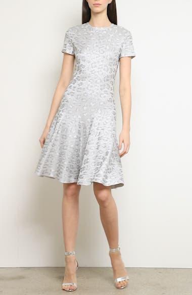 Metallic Animal Jacquard Knit Dress, video thumbnail