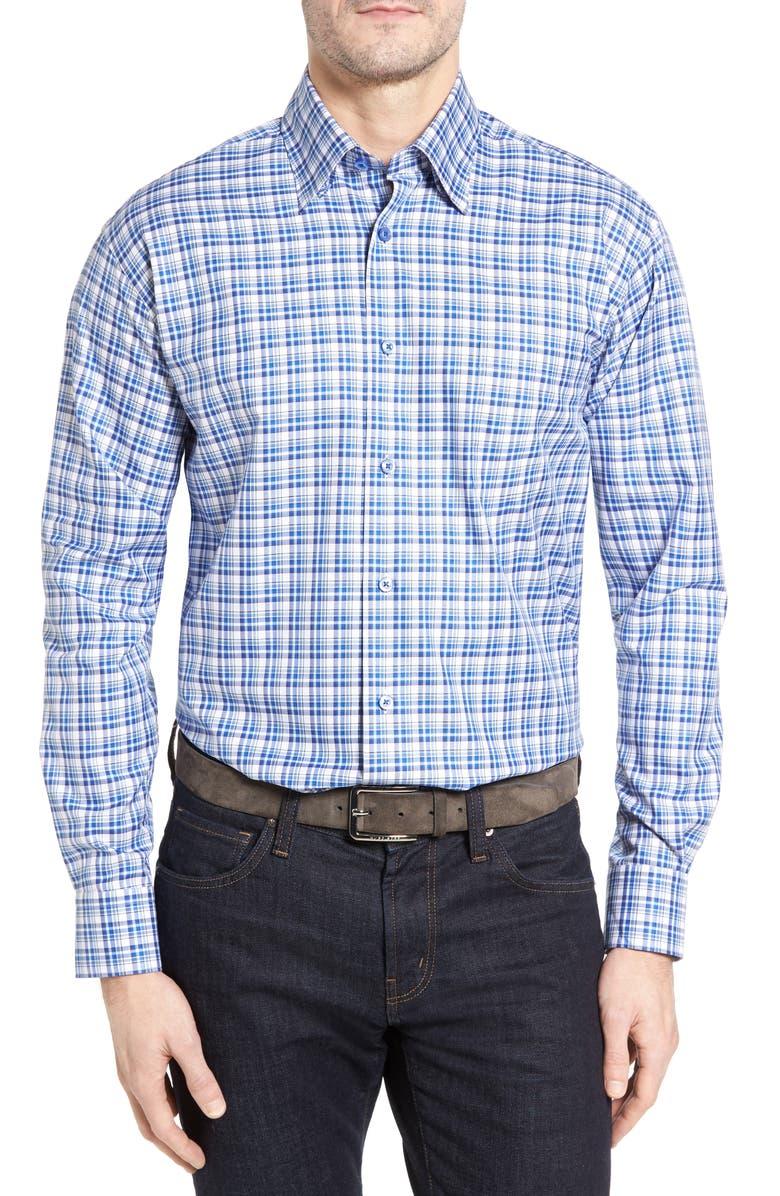 ROBERT TALBOTT Anderson Classic Fit Plaid Micro Twill Sport Shirt, Main, color, 417