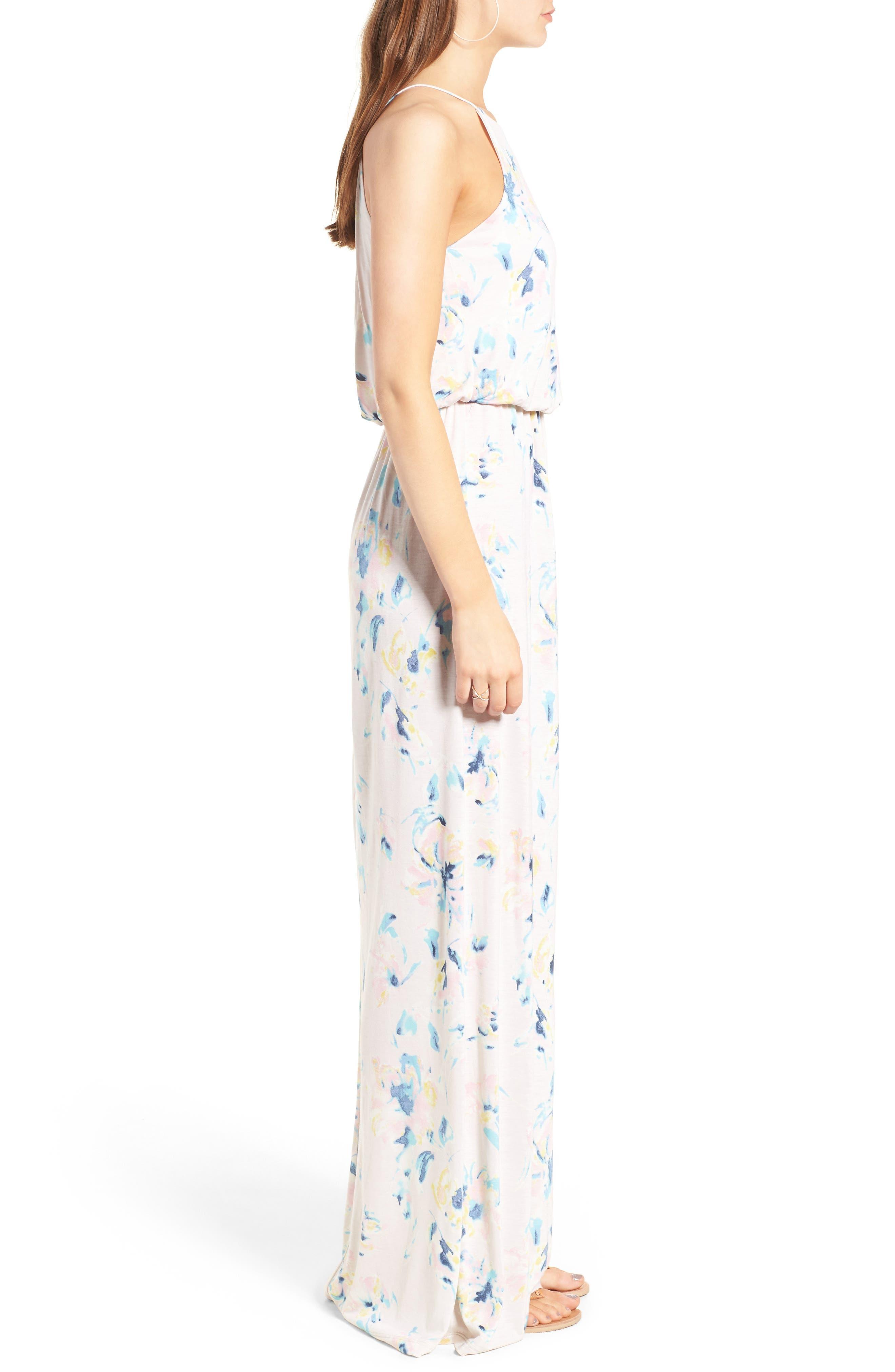 ,                             High Neck Maxi Dress,                             Alternate thumbnail 128, color,                             650