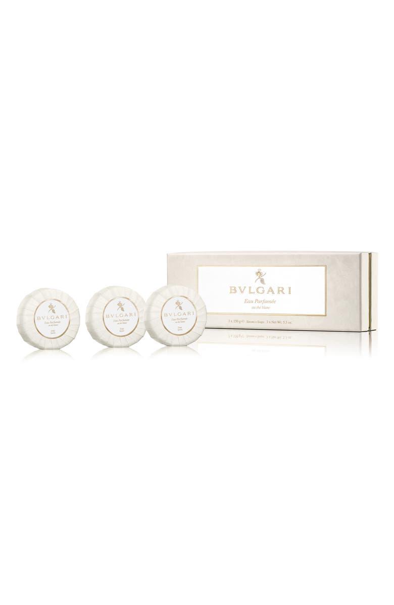 BVLGARI Eau Parfum E Au Th Blanc Soap Set