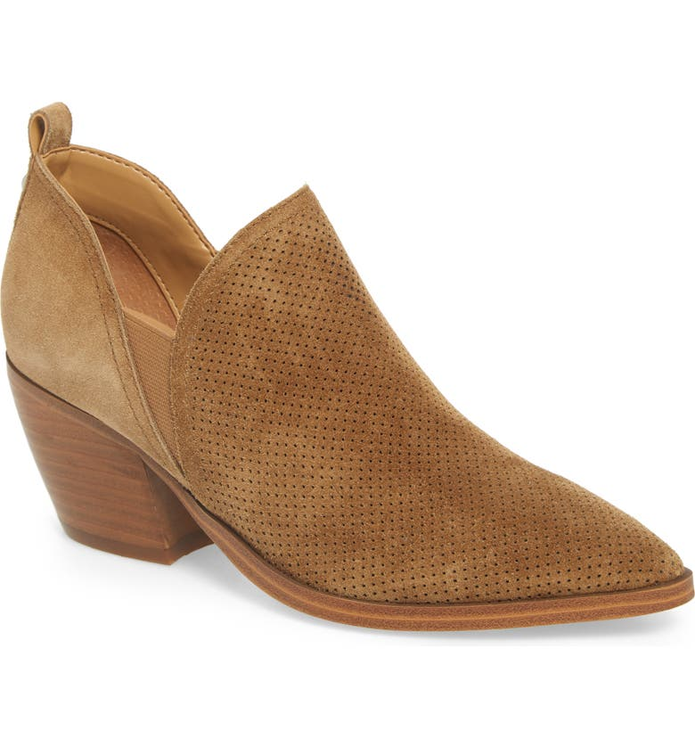 MARC FISHER LTD Dalar Bootie, Main, color, COGNAC SUEDE