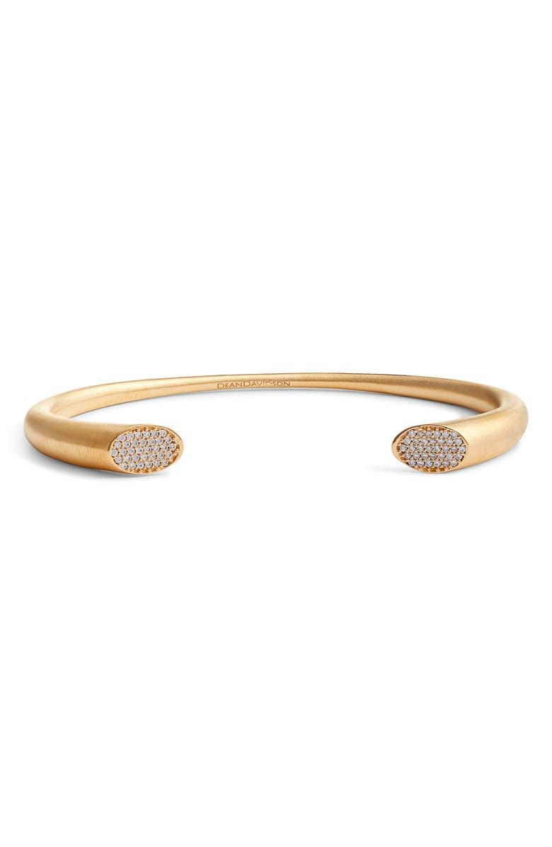 DEAN DAVIDSON Signature Pavé Detail Cuff Bracelet, Main, color, GOLD