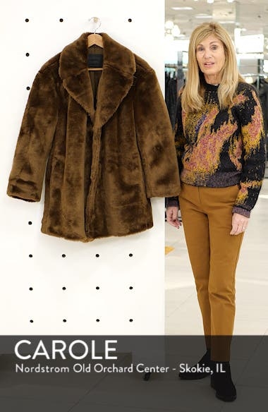 d5f39f1d1cce ... Amice Faux Fur Jacket, sales video thumbnail ...