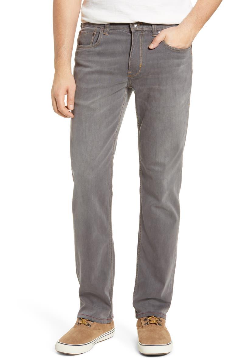 TOMMY BAHAMA Sand Straight Leg Jeans, Main, color, VINTAGE GREY WASH