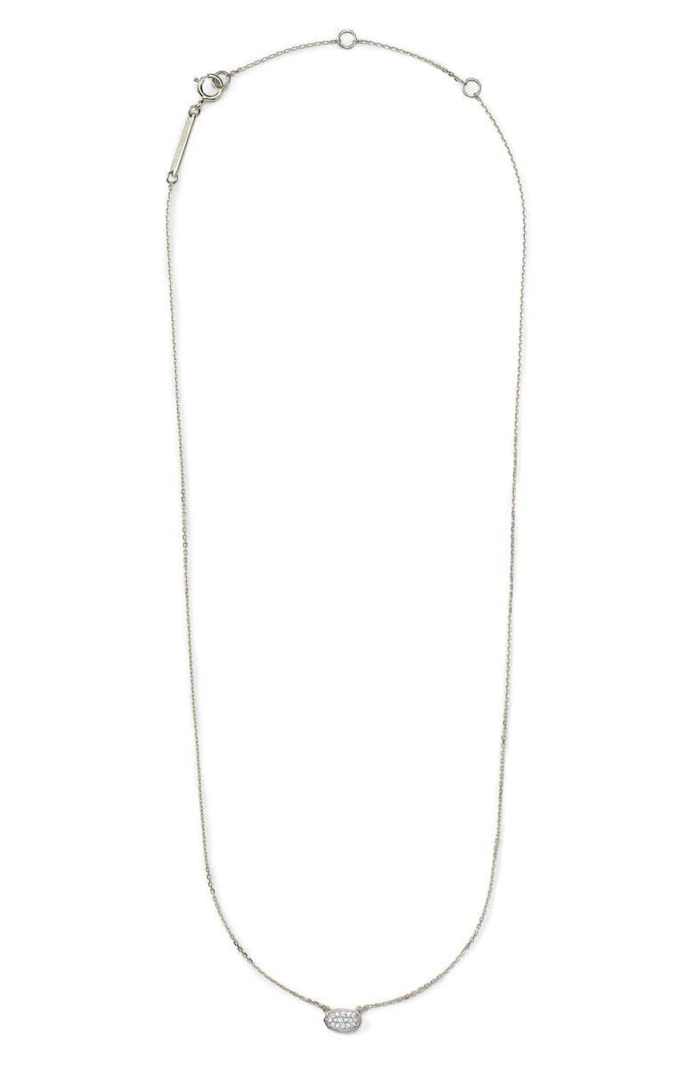 KENDRA SCOTT Marisa Diamond & White Gold Pendant Necklace, Main, color, 190