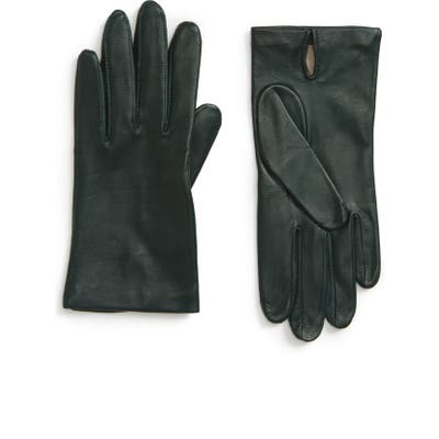 Nordstrom Lambskin Leather Gloves, Green