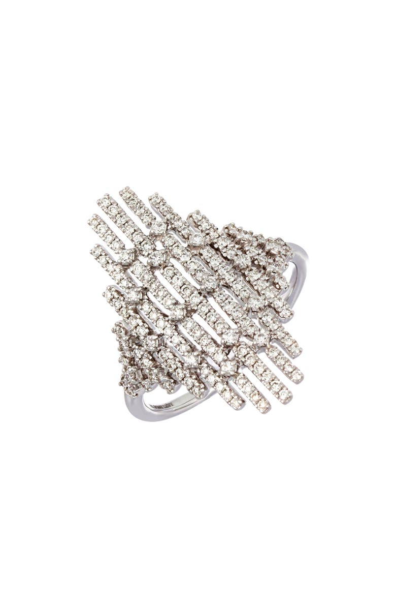 BONY LEVY Multiple Bar Diamond Statement Ring, Main, color, WHITE GOLD/ DIAMOND