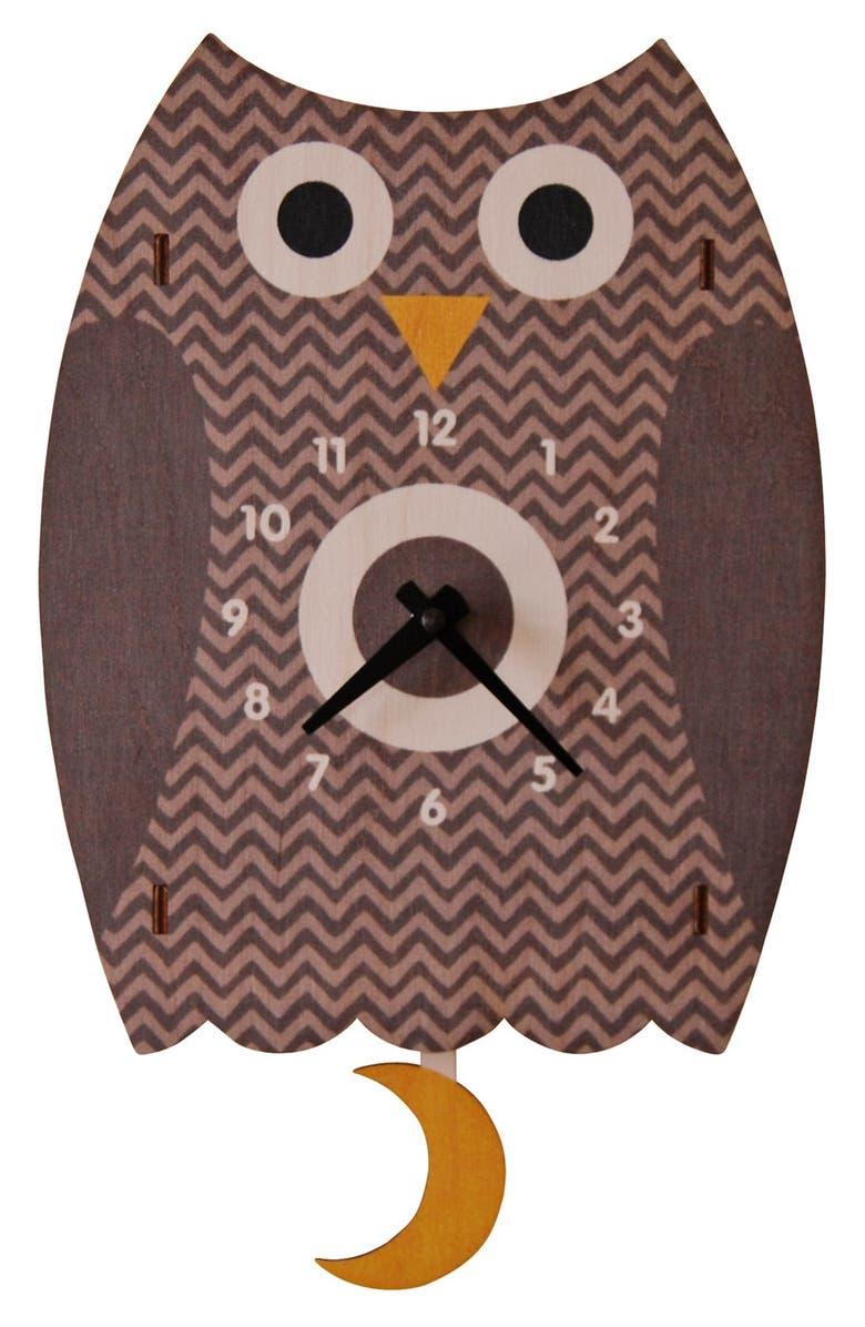 MODERN MOOSE 'Owl' Pendulum Clock, Main, color, 200