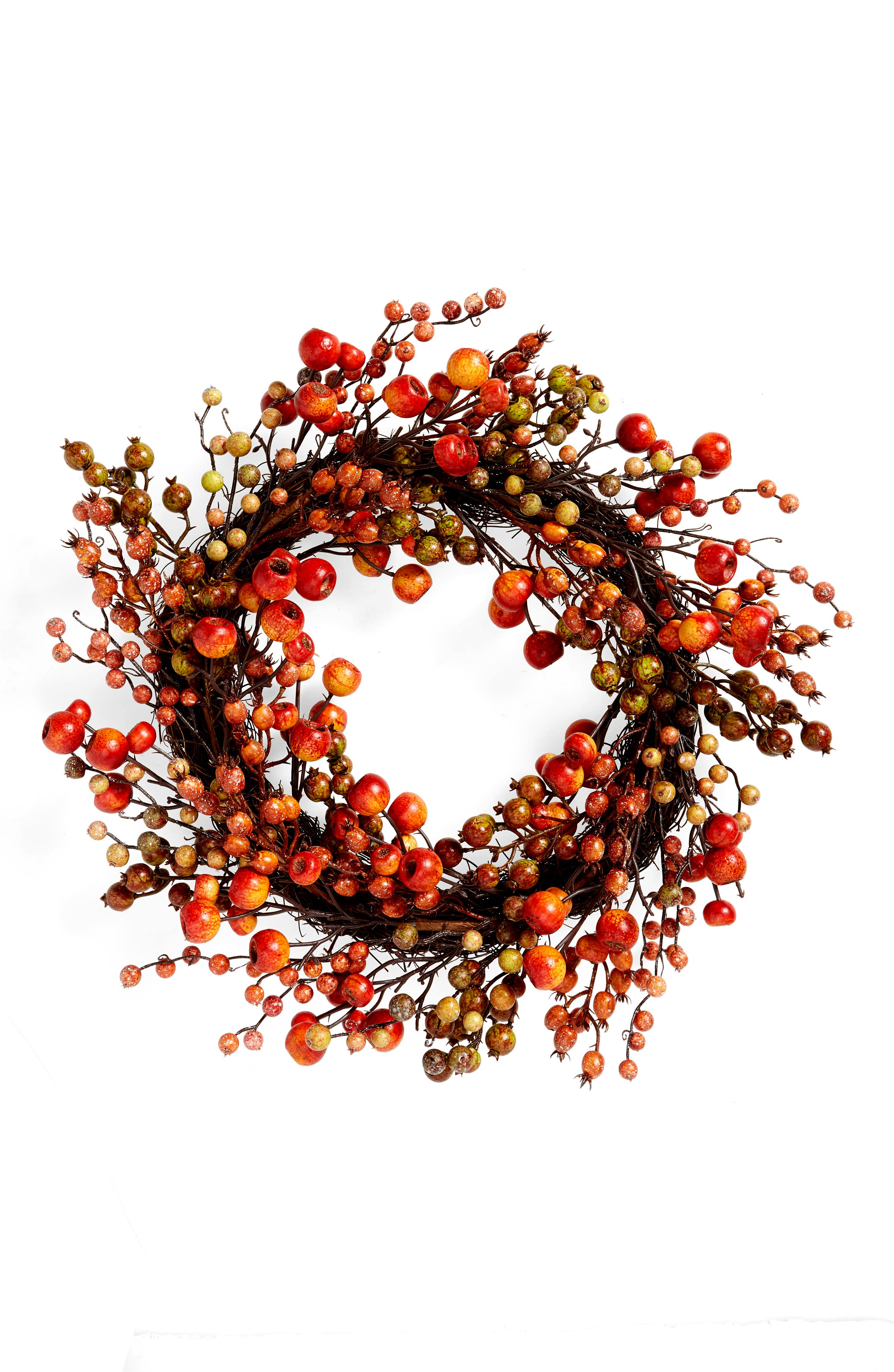 Harvest-time coloring means this wreath adds rich, inviting color to any space. Style Name: Allstate Berry Wreath. Style Number: 6082312. Available in stores.