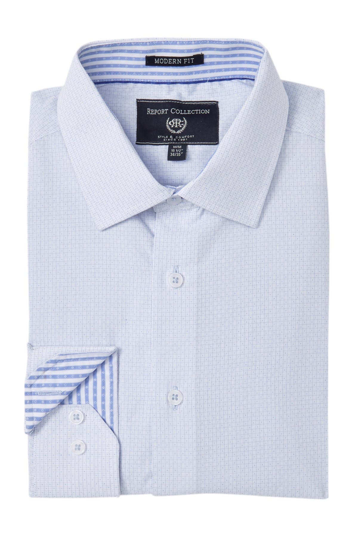Image of Report Collection Modern Fit Dobby Dress Shirt