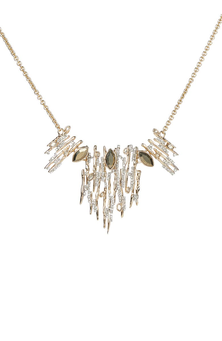 ALEXIS BITTAR Asteria Nova Navette Spike Necklace, Main, color, CLEAR