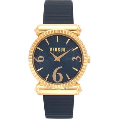 Versus Versace Republique Leather Strap Watch,