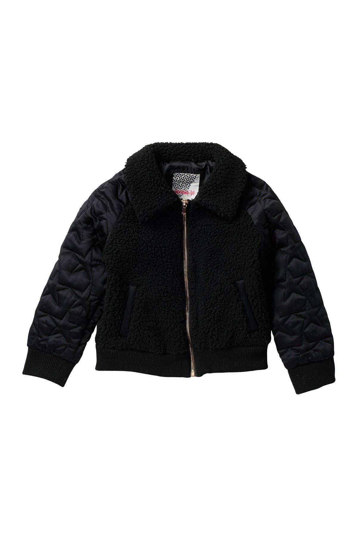 Image of Kensie Girl Teddy Faux Fur Quilt Sleeve Jacket