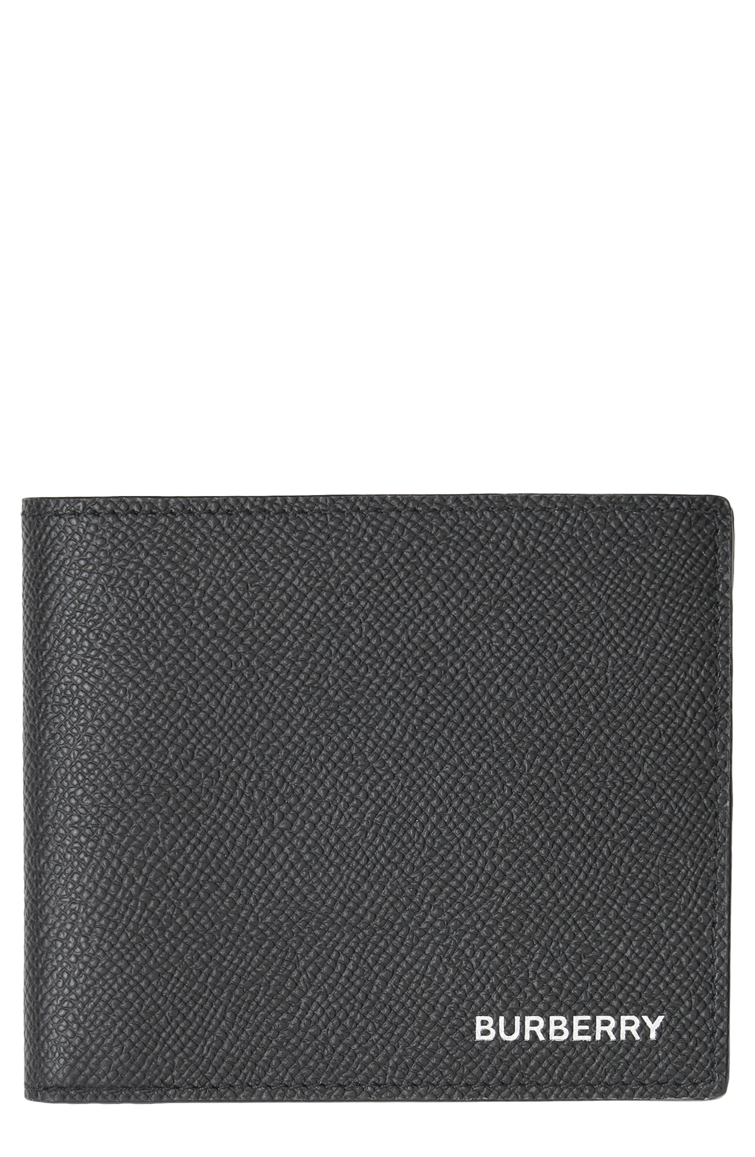 ,                             Leather International Wallet,                             Main thumbnail 1, color,                             BLACK