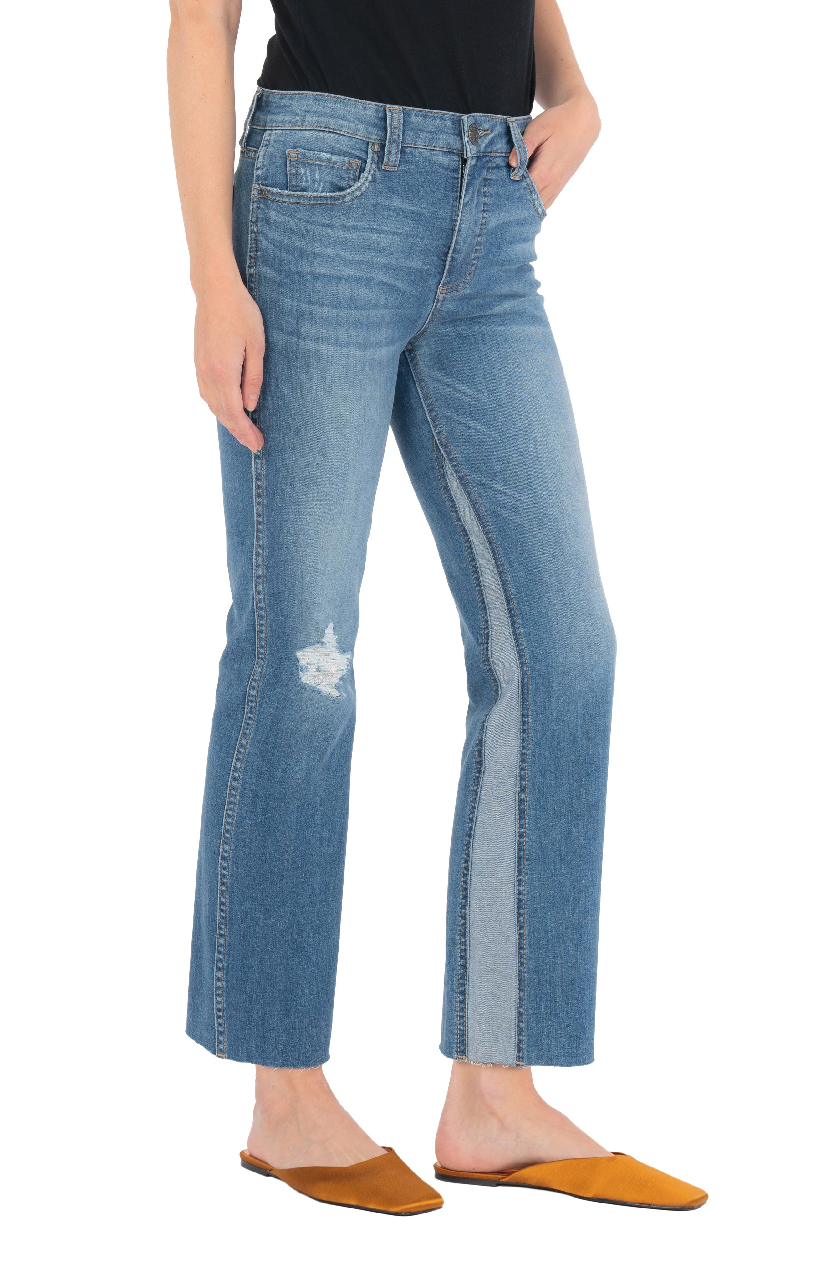 Kelsey Fab Ab Inset High Waist Ankle Flare Jeans