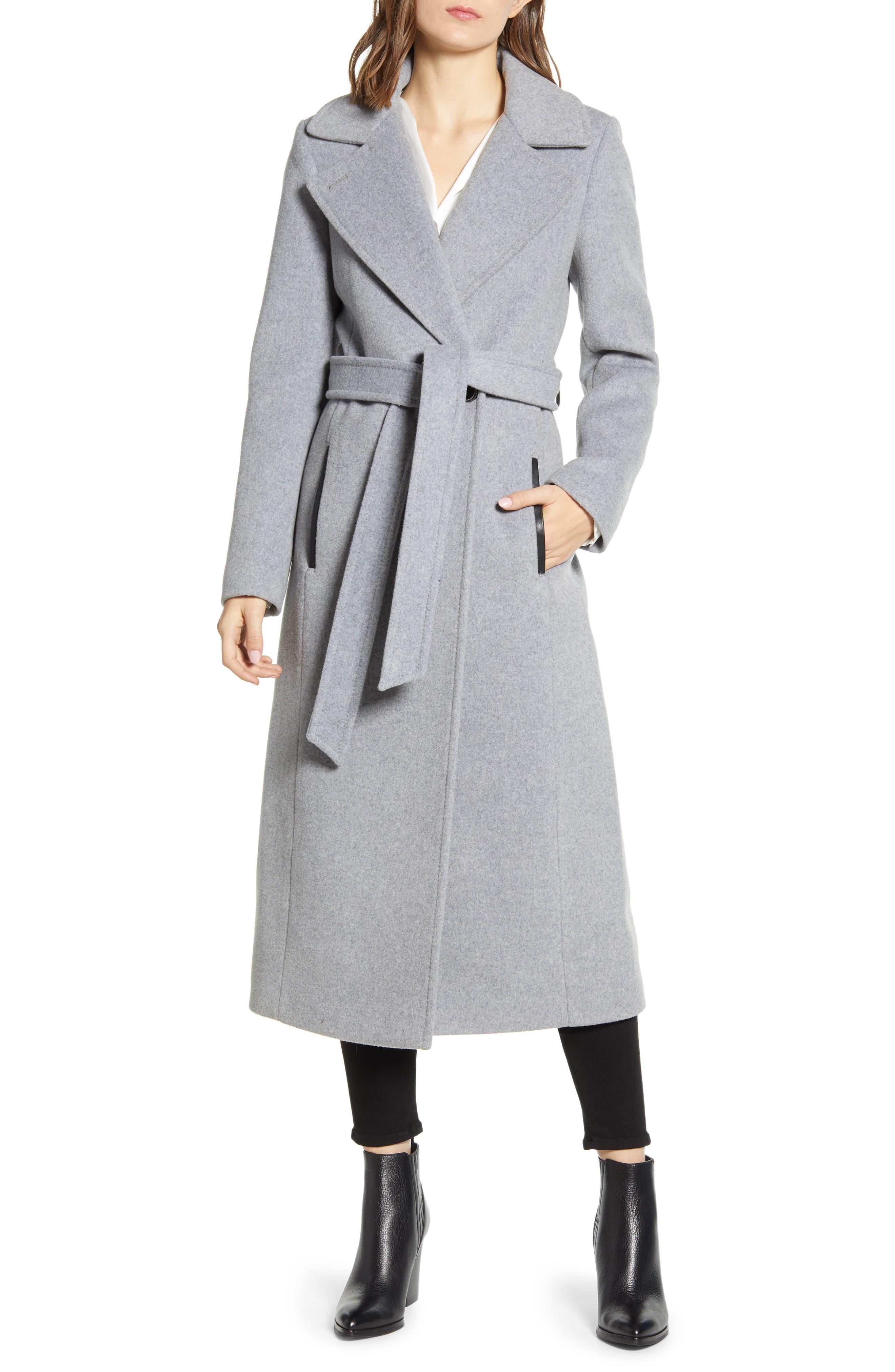 Mackage Evaline-S Long Wool Blend Coat (Nordstrom Exclusive)