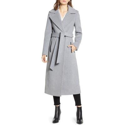 Mackage Evaline-S Long Wool Blend Coat, Grey (Nordstrom Exclusive)