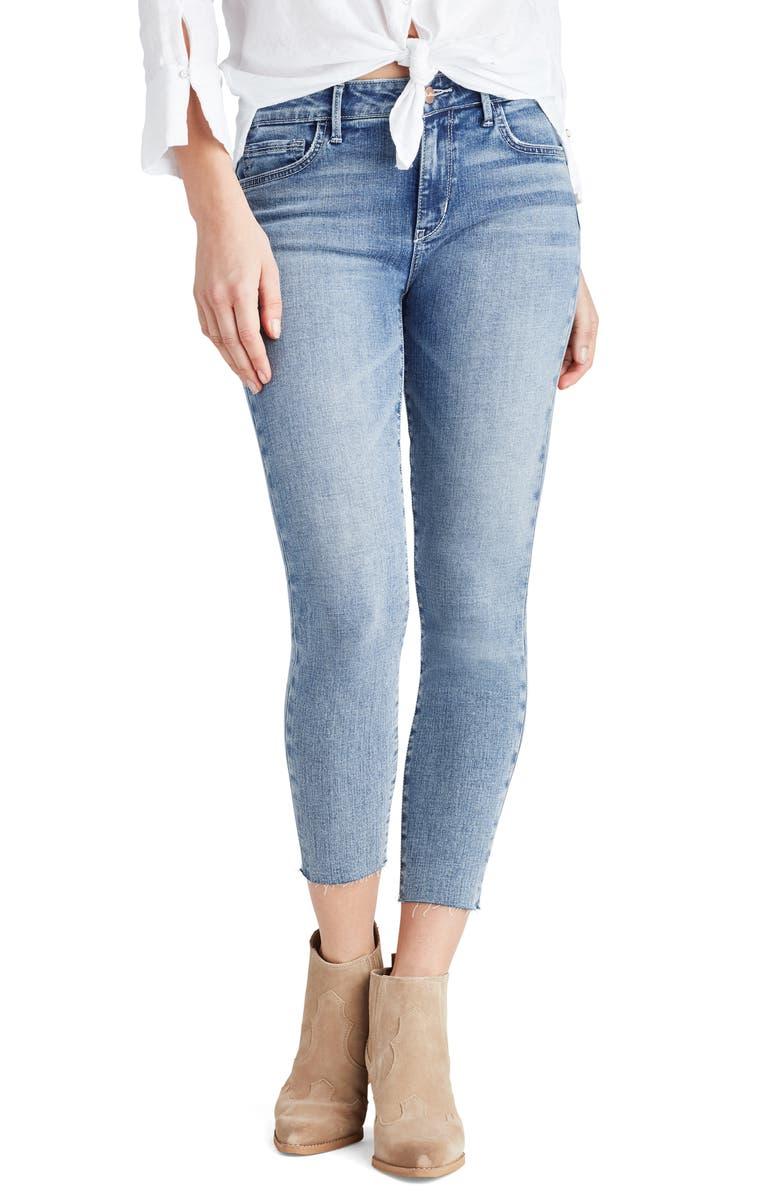 SAM EDELMAN The Kitten Raw Hem Crop Skinny Jeans, Main, color, ROXANNE