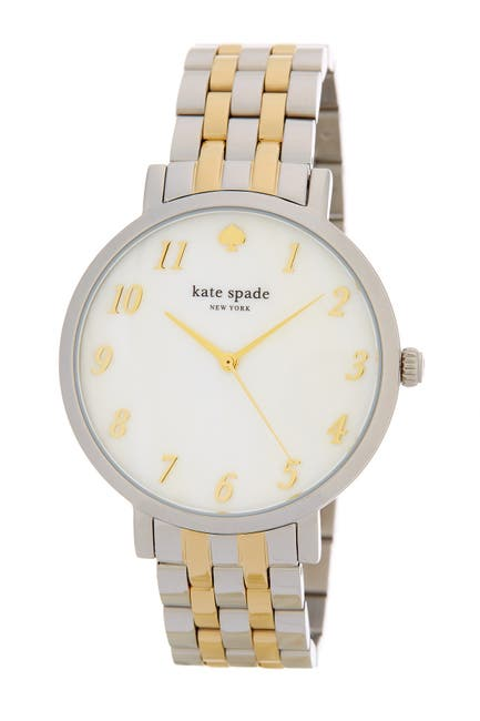 Image of kate spade new york women's monterey two-tone bracelet watch, 38mm