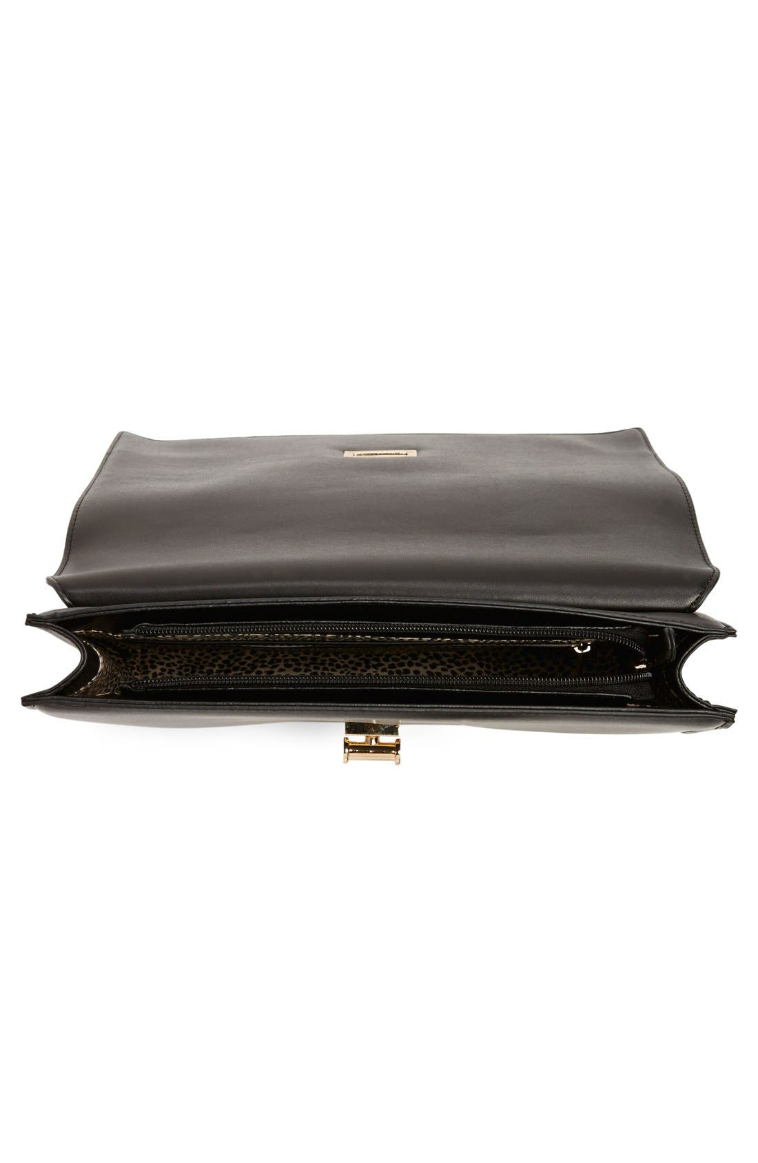 ,                             'Exotic' Boxy Flap Clutch,                             Alternate thumbnail 6, color,                             010
