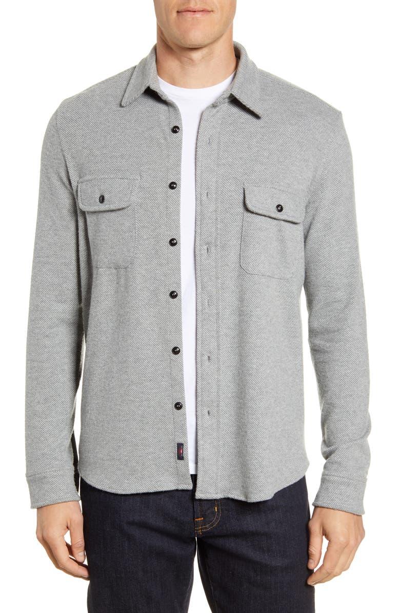 FAHERTY Legend Shirt Jacket, Main, color, STEELHEAD GREY
