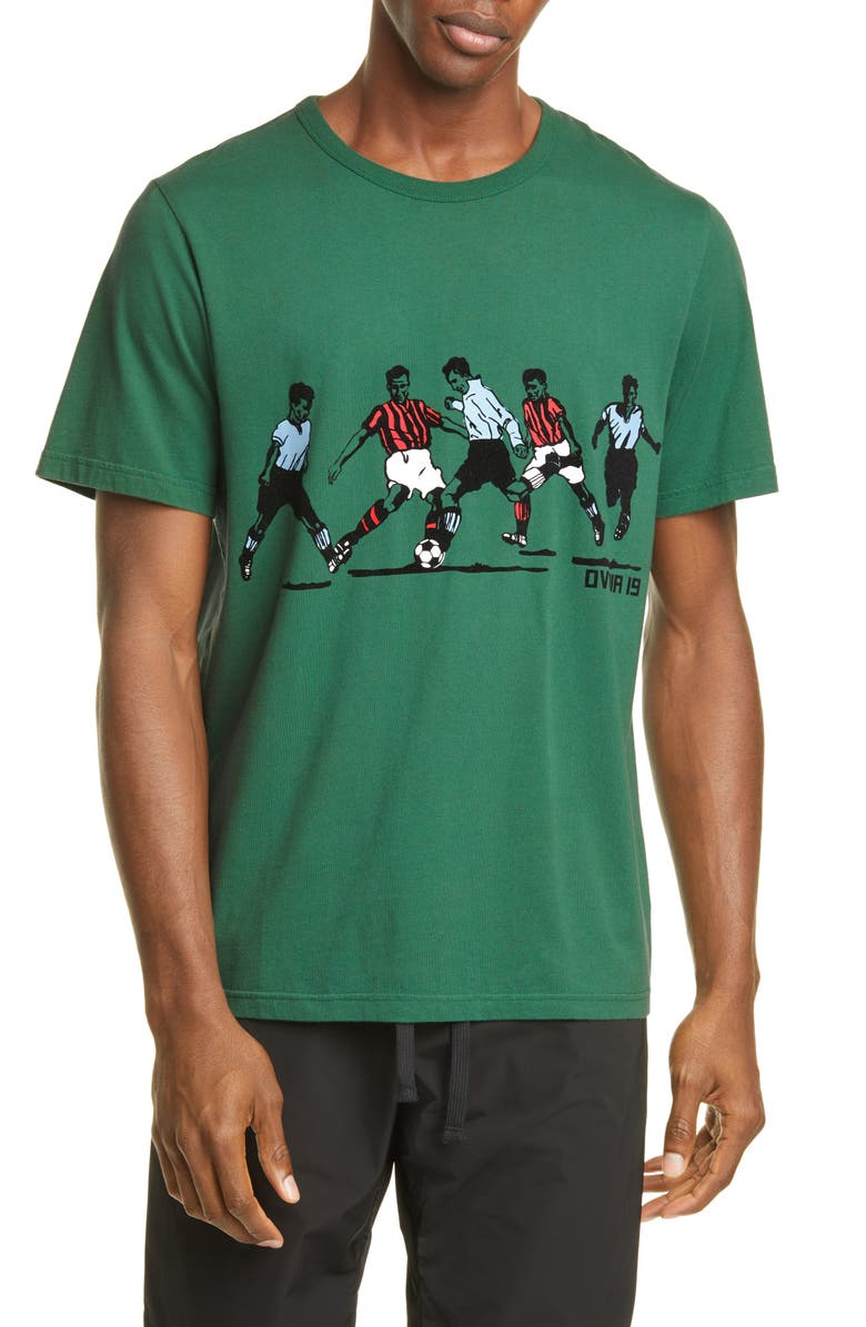 OVADIA & SONS Soccer Graphic T-Shirt, Main, color, GREEN