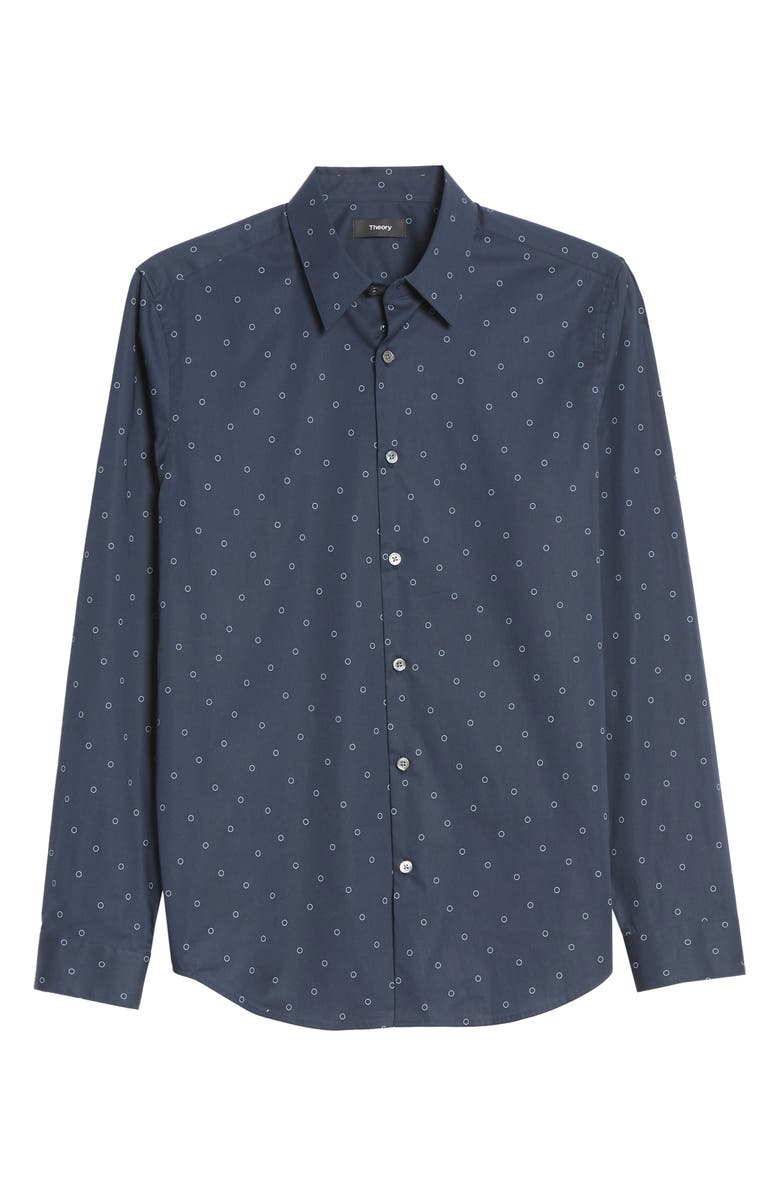 THEORY Irving Circuit Slim Fit Button-Up Shirt, Main, color, 454
