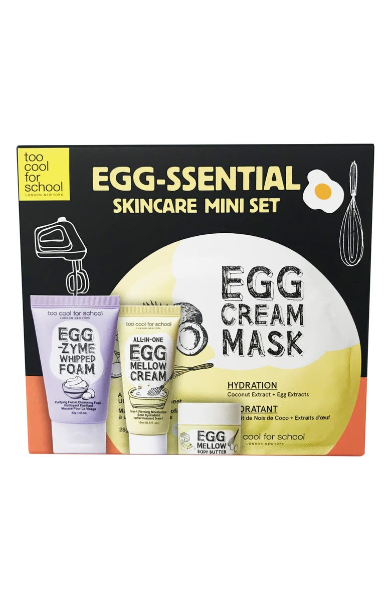 TOO COOL FOR SCHOOL Egg-Ssential Skin Care Mini Set, Main, color, 000