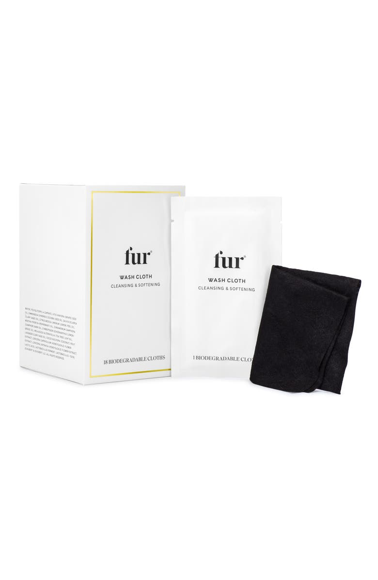 FUR SKINCARE Biodegradable Wash Cloth, Main, color, NO COLOR