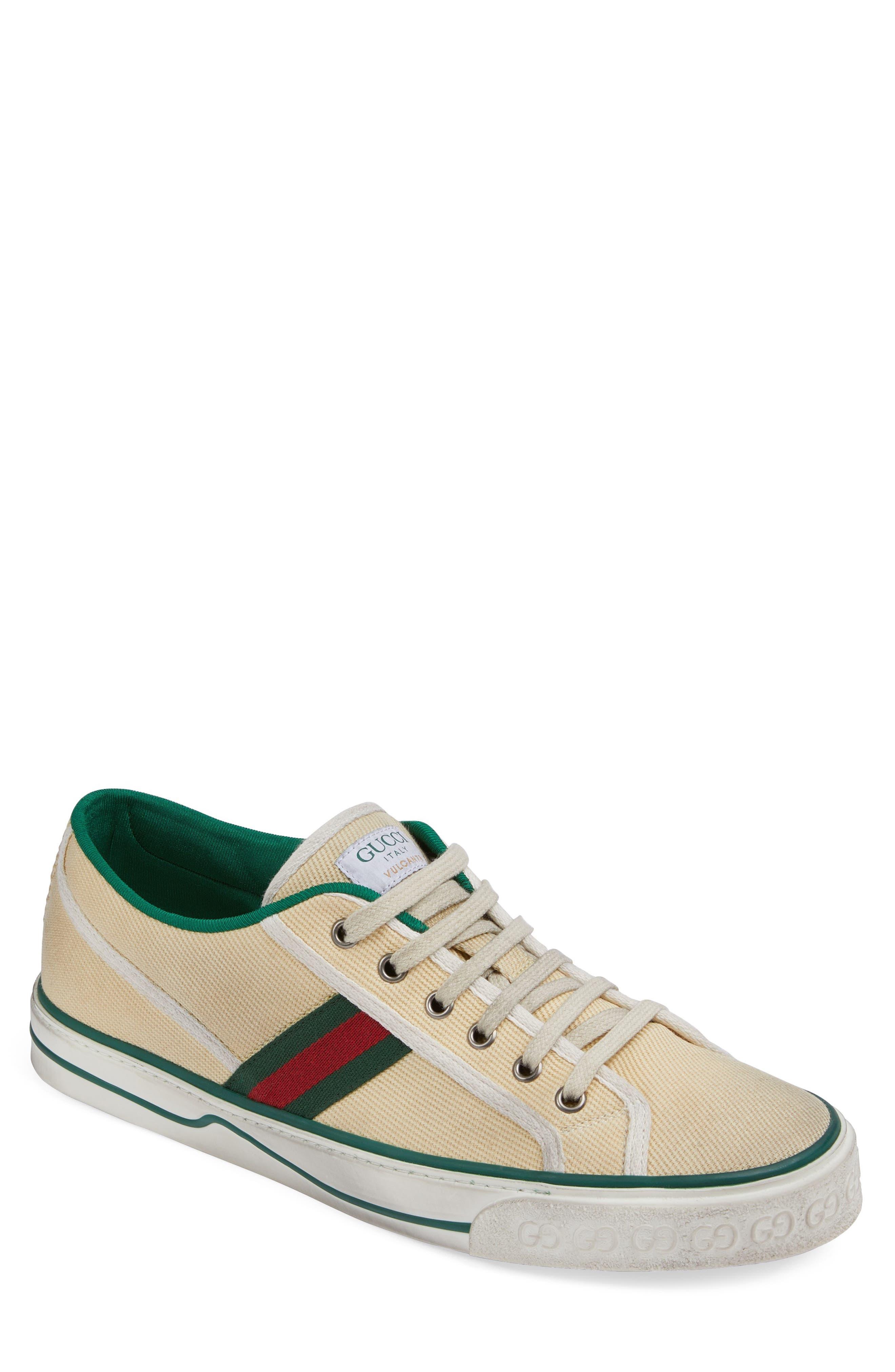 Gucci Web Canvas Low Top Sneaker (Men