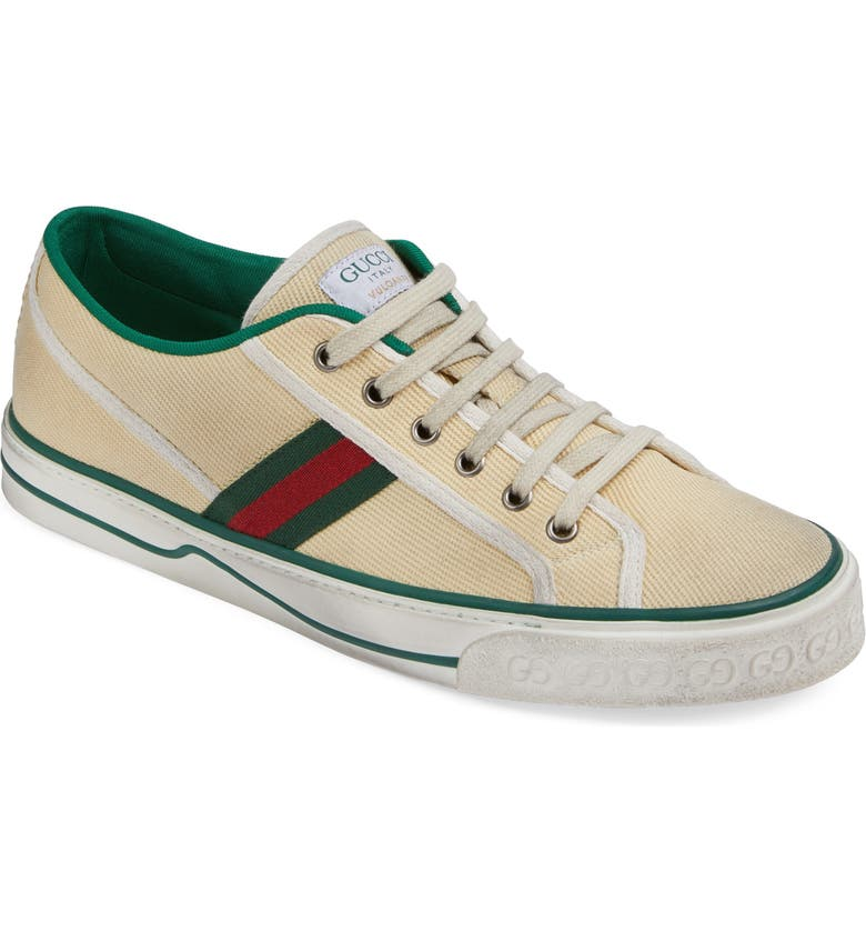 GUCCI Web Canvas Low Top Sneaker, Main, color, 100