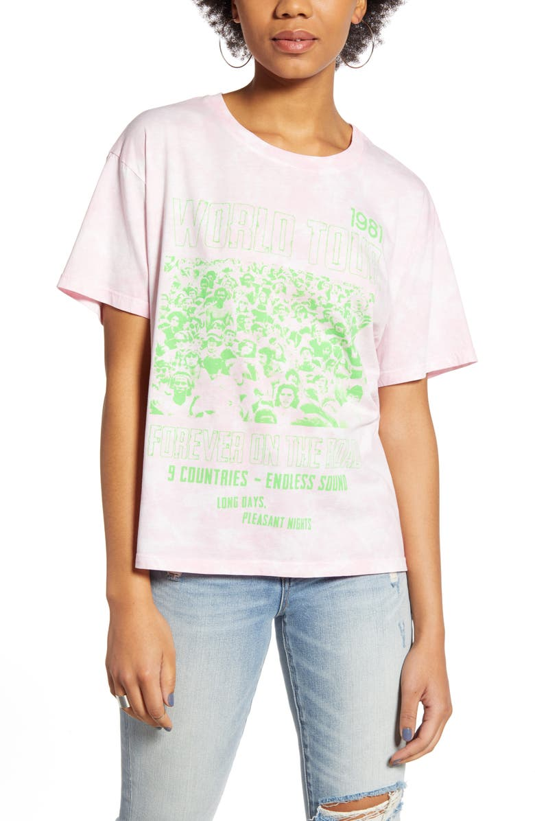 DAY Concert Poster Graphic Tee, Main, color, CLOUD WASH