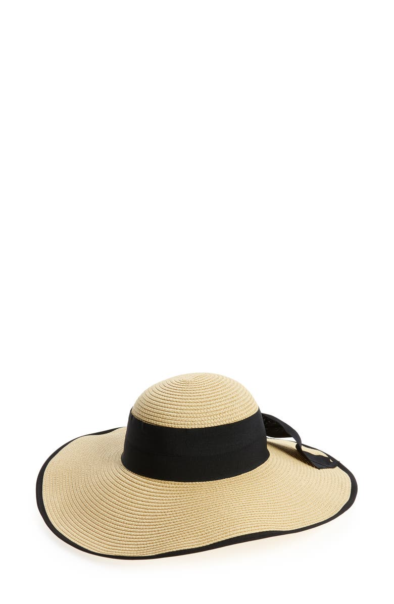 BP. Bow Floppy Straw Hat, Main, color, 250