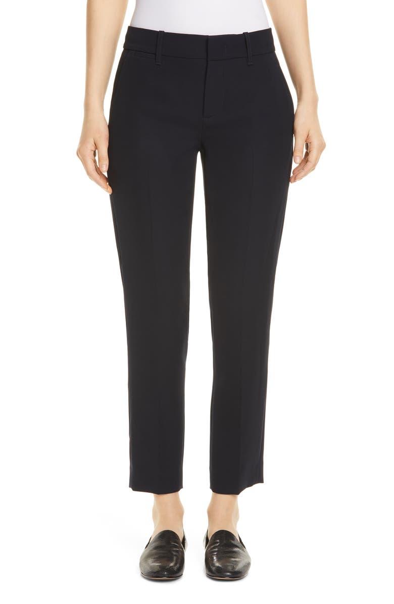 VINCE Flat Front Crop Trousers, Main, color, COASTAL