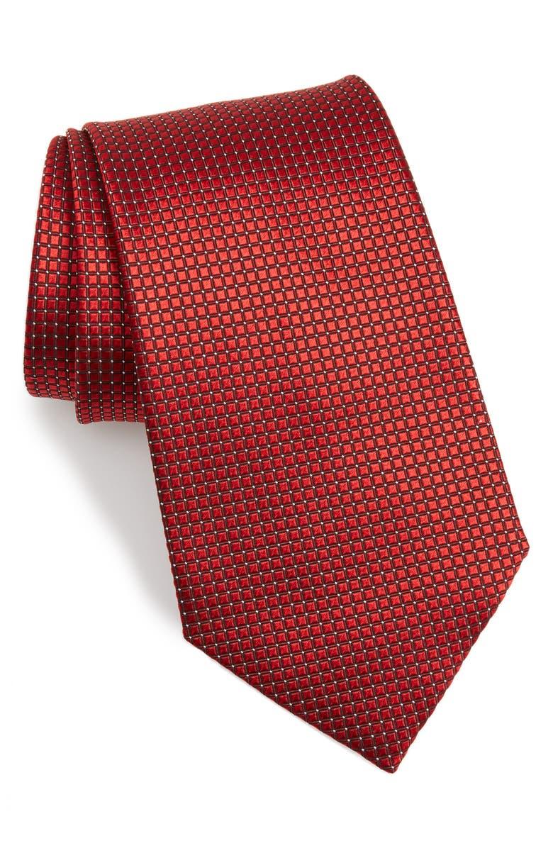 ERMENEGILDO ZEGNA Geometric Silk Tie, Main, color, 600