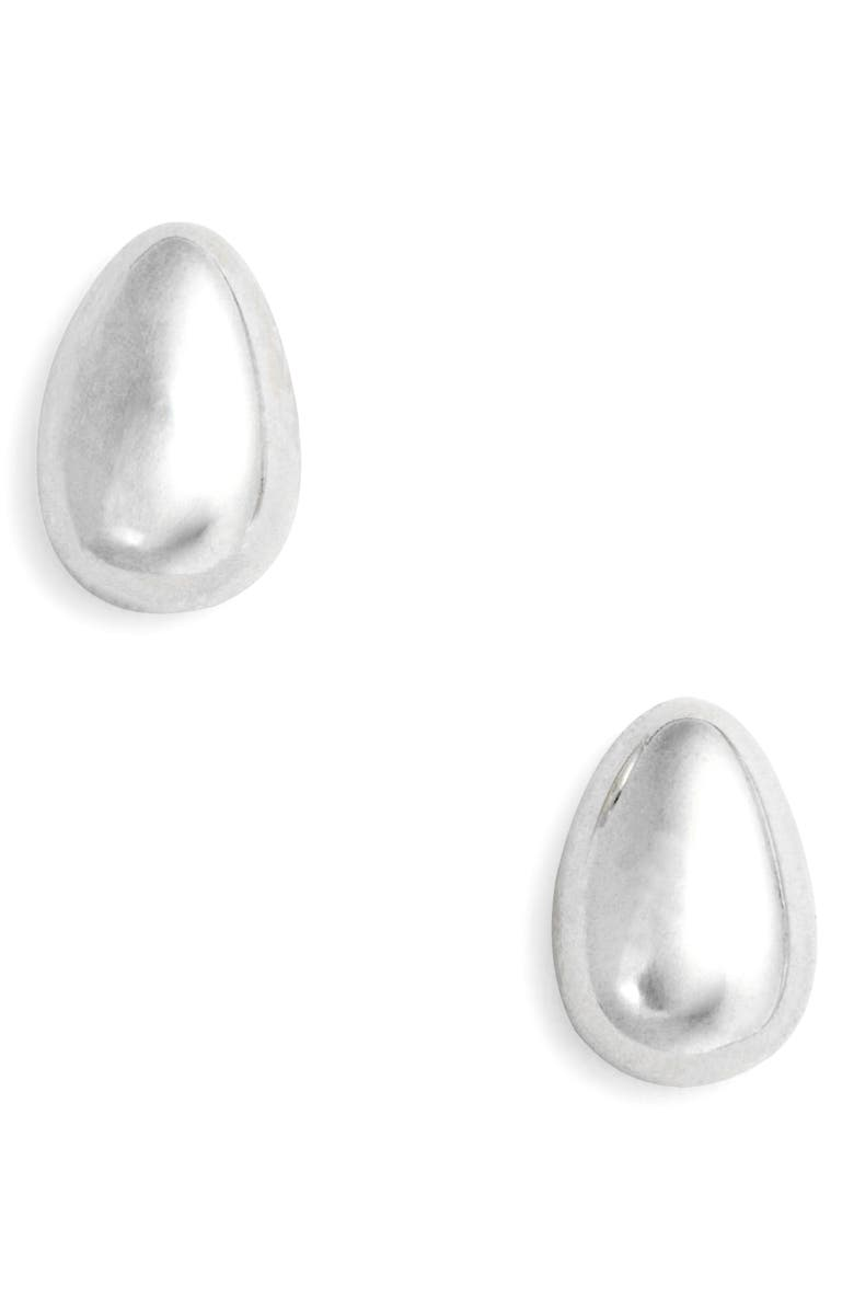 SOPHIE BUHAI Tiny Egg Stud Earrings, Main, color, STERLING SILVER