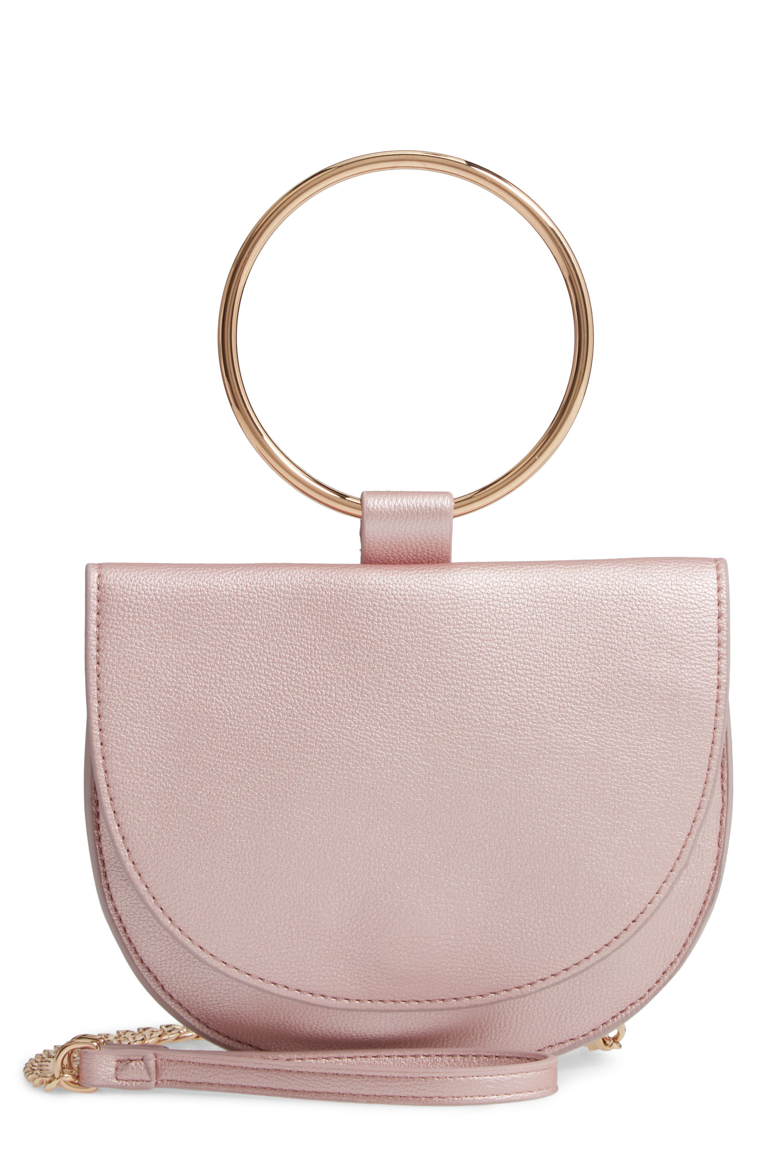 Image of Trouve Reese Faux Leather Ring Crossbody Bag