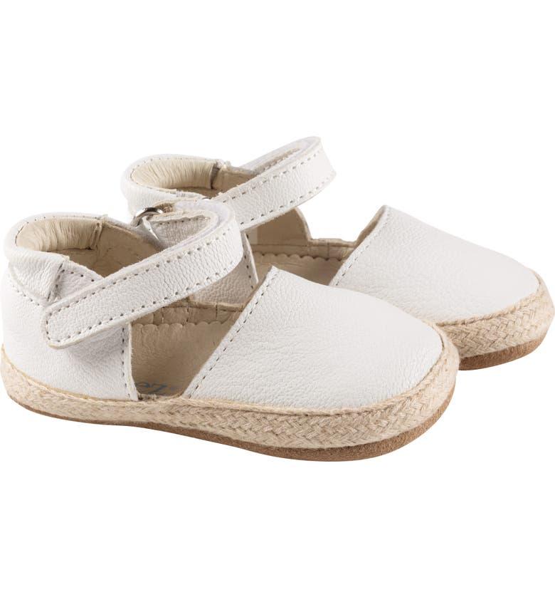 ROBEEZ<SUP>®</SUP> Kelly Espadrille Crib Sandal, Main, color, WHITE