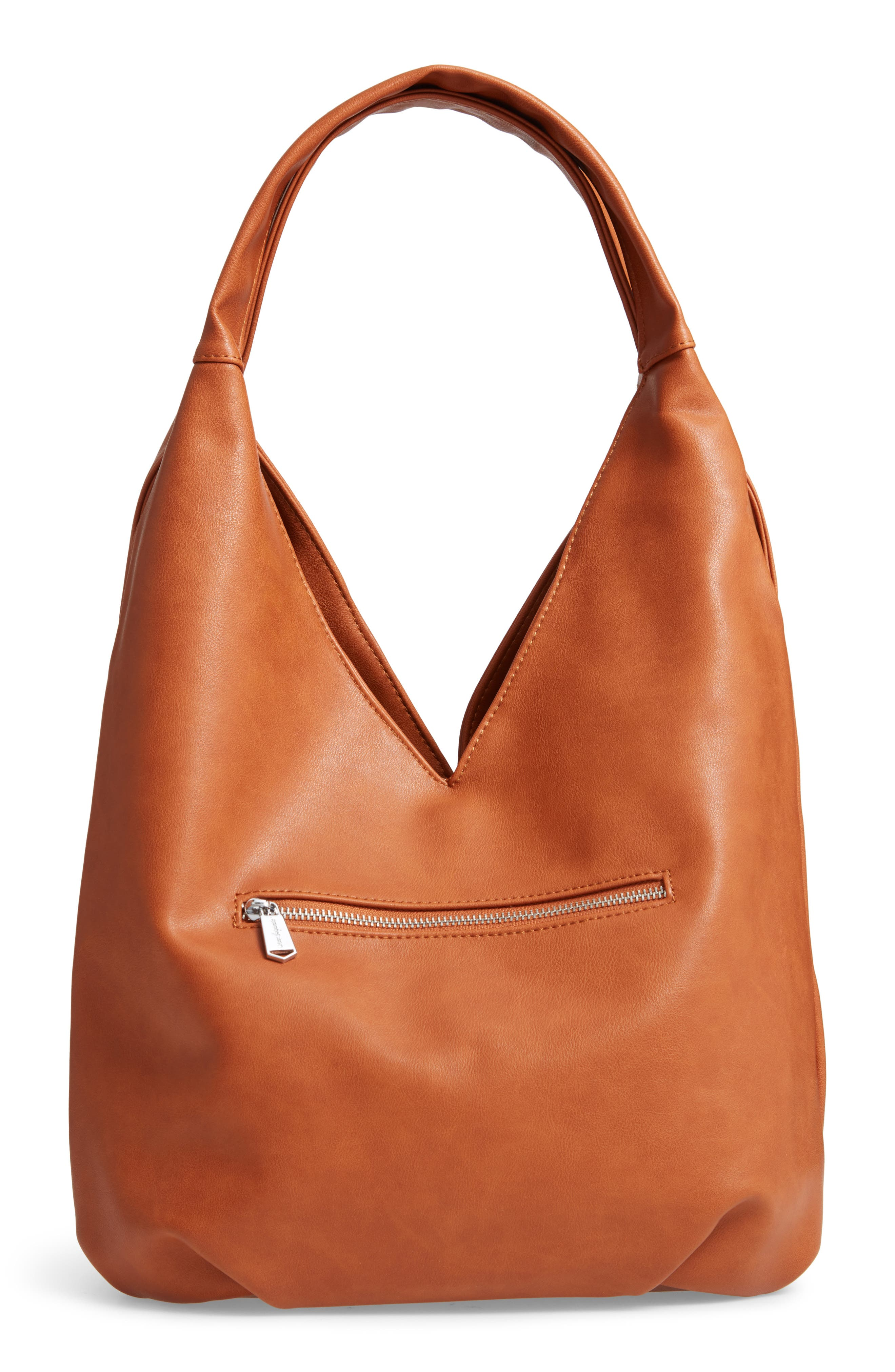 Project Love Vegan Leather Hobo, Main, color, RUST