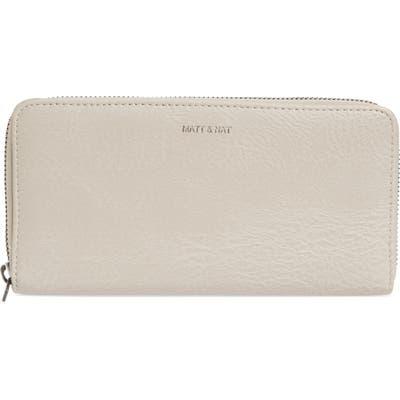 Matt & Nat Zip Around Faux Leather Wallet - Grey