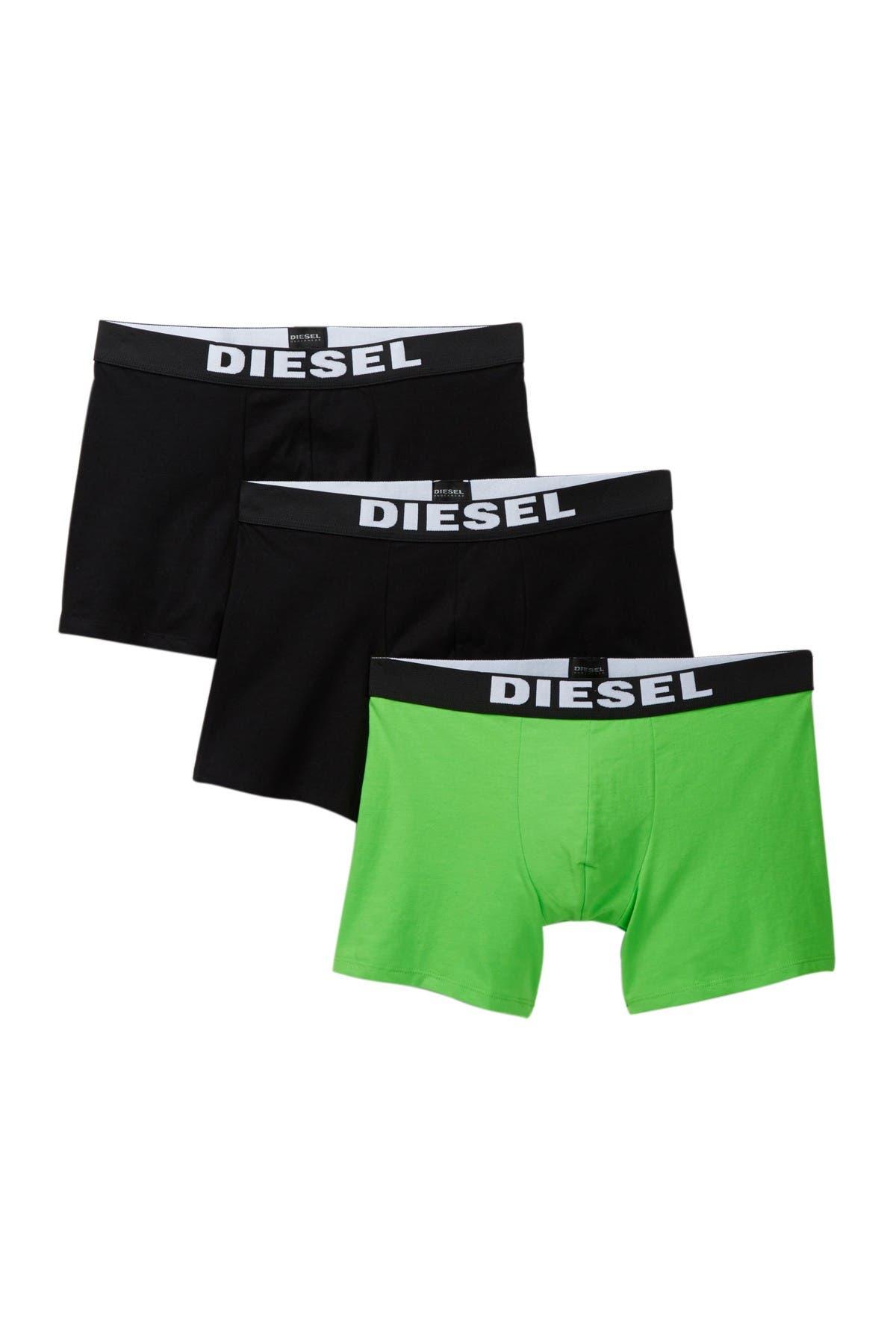 Image of Diesel Sebastian Cotton Blend Boxer Briefs - Pack of 3